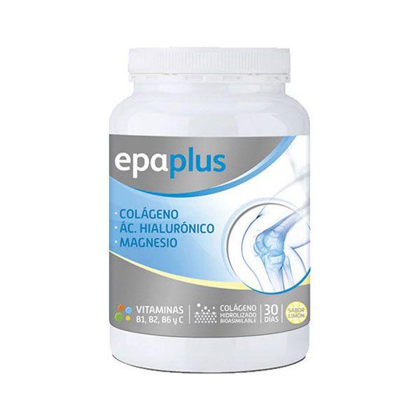 Epaplus Colágeno + Ácido Hialurónico + Magnesio es un suplemento alimenticio ideal para tratar y cuidar las articulaciones y el sistema óseo. http://farmavallecas.com/producto/epaplus-colageno-hialuron-magnesio-limon-332-gr/