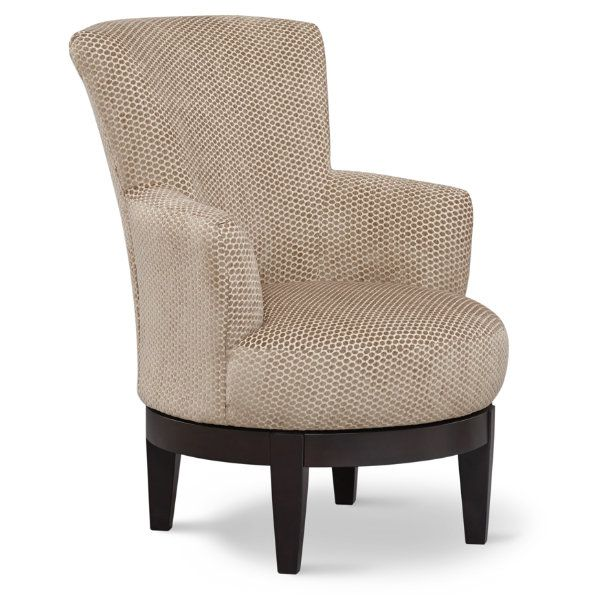 The Justine accent chair swivels atop a dark wood base. Slightly tapered  arms and a high, sculpted back for a comfortable sit. Upholstered in a dot  pattern ... - 50 Best Images About Accent Chairs On Pinterest Upholstery