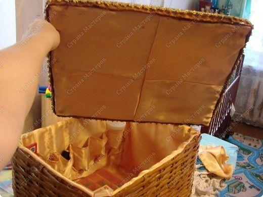 Мастер-класс,  : Сундучок для швейных принадлежностей Бумага газетная . Фото 1