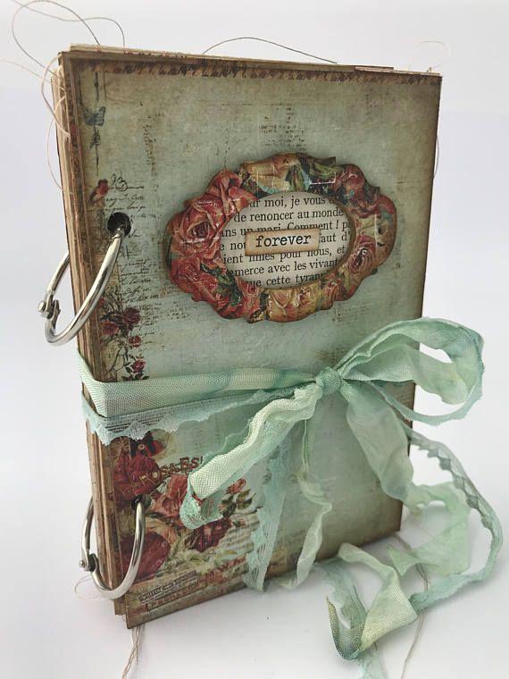 Forever Journal Junk Journal Tea Dye Journal Mini Album