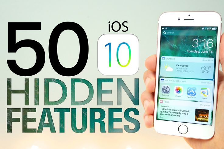 Top 50 iOS 10 Hidden Features, Secrets + Cool Tips & Tricks Apple Didn't Tell Us About! The Best of iOS 10 You Didn't Know. Install iOS 10 Here: https://goo....