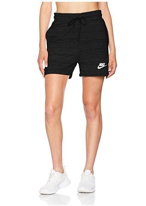 d7a636044e6f0 Nike Womens Sportswear Black AV15 French Terry Knit 4.5
