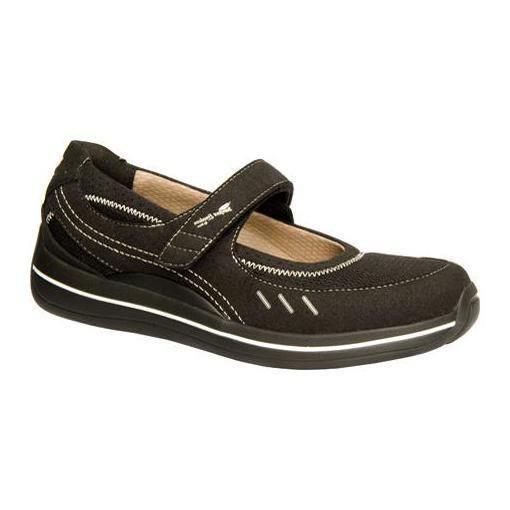 $154 Drew Shoes BAILEY Womens Mary Janes 6N Narrow Diabetic Orthotic Black Mesh #Drew #MaryJanes