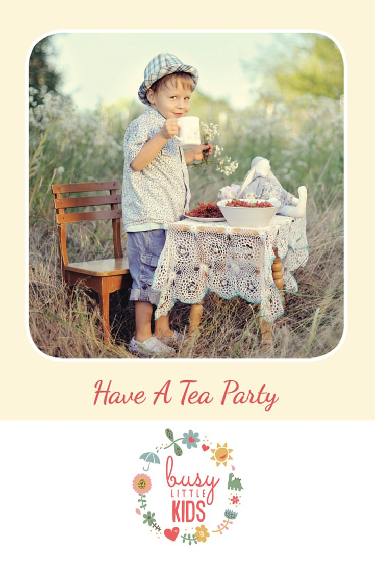 Fun, simple, easy sunny day kids activity - Have a Tea Party