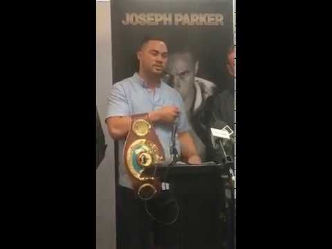 JOSEPH PARKER HOLDS A PRESS CONFERENCE CALLING OUT ANTHONY JOSHUA