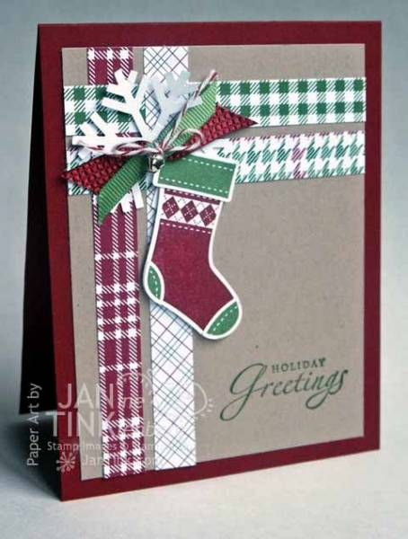 Stitched Stockings by JanTInk - Cards and Paper Crafts at Splitcoaststampers