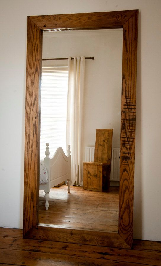 Extra large full length solid oak mirror from by BenmoreStudio