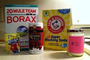 The winner of the homemade dishwashing detergent test. 6 recipes tested and compared. Great info.