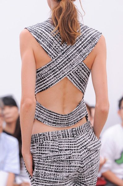 Derek Lam Spring 2014 - Pattern and back details!  Www.thestatementnecklace.com