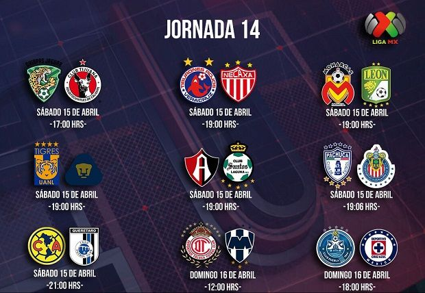 Liga MX Jornada 14, calendario, horarios y canales de TV del Clausura 2017 - http://www.esnoticiaveracruz.com/liga-mx-jornada-14-calendario-horarios-y-canales-de-tv-del-clausura-2017/