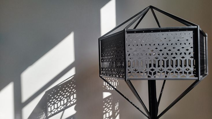 Our Floor Lamp 'HIVE' version all black// Atelier Synapses for the stunning production. More infos : www.homewerkberlin.com