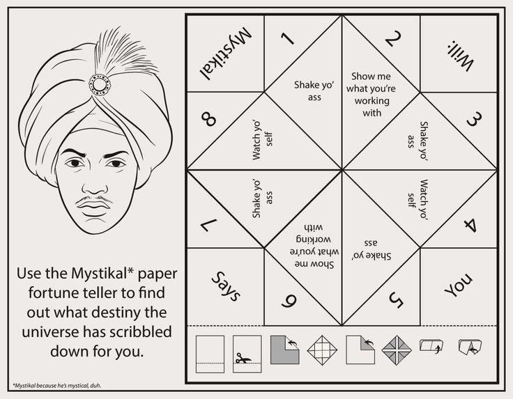 Bun B's Jumbo Coloring And Rap Activity Tumblr | Clickhereto download the Mystikal paper fortune...
