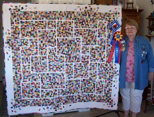 Kathy Maccleary Scrap Happy Is Hand Pieced And Hand