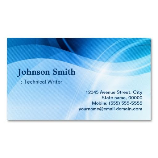 235 best technical writer business cards images on pinterest technical writer modern blue creative business cards colourmoves