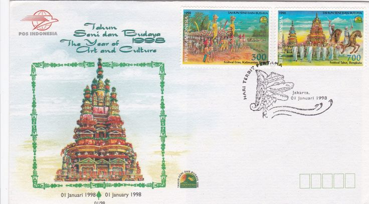 FDC TAhun Seni dan Budaya 1998  (Festival Erau Kaltim dan Festival Tabot Bengkulu)
