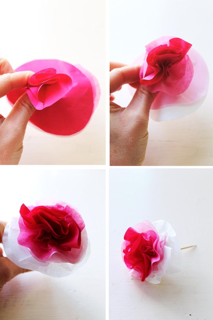 Small paper flowers craft - Diy Ombre Tissue Paper Flowers