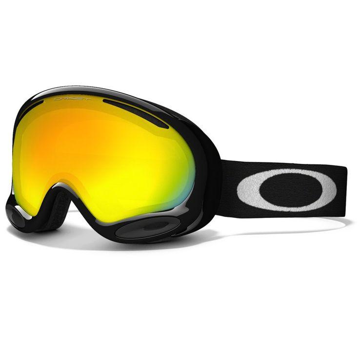 Oakley A-Frame 2.0 Ski Goggles, Jet Black/Fire Irid