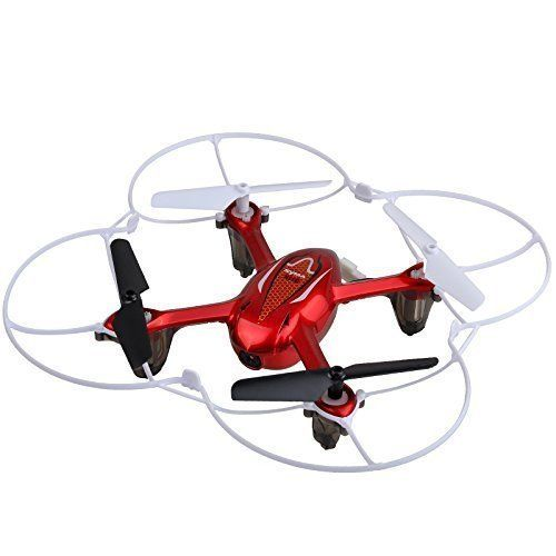 Syma X11C RC Quadcopter with Camera and LED Lights - Red
