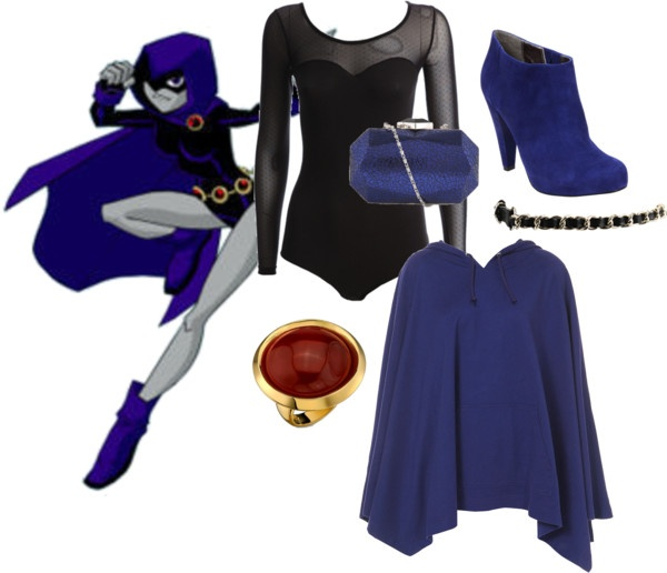 """""""Raven (Teen Titans)"""" by geekstylist ❤ liked on Polyvore"""