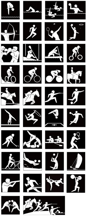 Did you know that all these sports are in the Olympics?? See how many you can get you can recognise.   #UBFitnessApp  http://ub.fitness