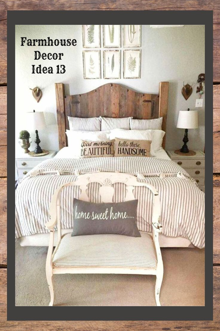 Farmhouse Bedroom Ideas - rustic farmhouse bedrooms decor and DIY ideas #farmhousebedroom #rusticfarmhousebedroom #farmhousebedroomideas #farmhousedecor #farmhousestyle #bedroomideas