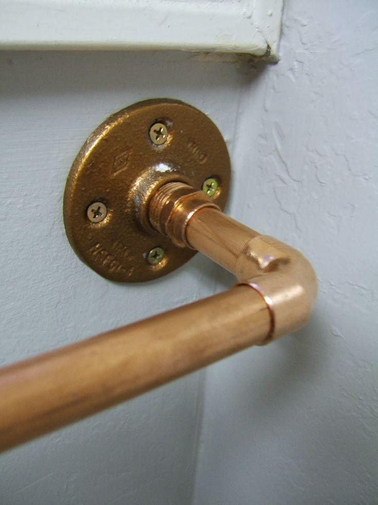 curtain rail copper pipe