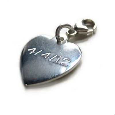 Give your bridesmaids something special to remember your wedding by. The Heart Charm is engraved with your chosen date or a special little message so your bridesmaids will always remember your day whenever they look at their charm. #Jewellery #Bridesmaids #PersonalisedGifts #Engraved  £14.99