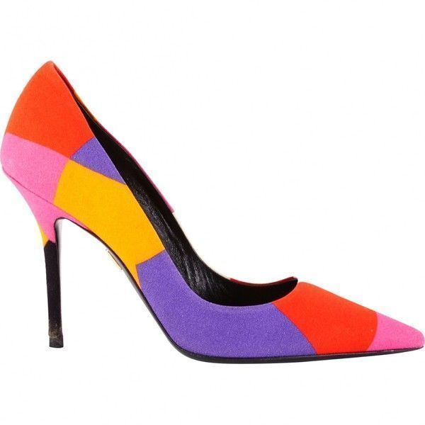 Pre-owned Roger Vivier Canvas Pumps ($284) ❤ liked on Polyvore featuring shoes, pumps, multicolour, women shoes heels, multicolor shoes, colorful pumps, multi color shoes, multi colored shoes and multi-color pumps #rogervivierheels #rogervivierpumps
