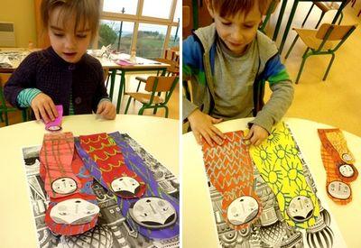 Arts visuels ET découverte du monde! Tellement plus joli que les bandes de papier!