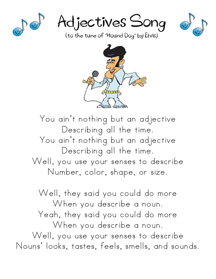 Adjectives Song