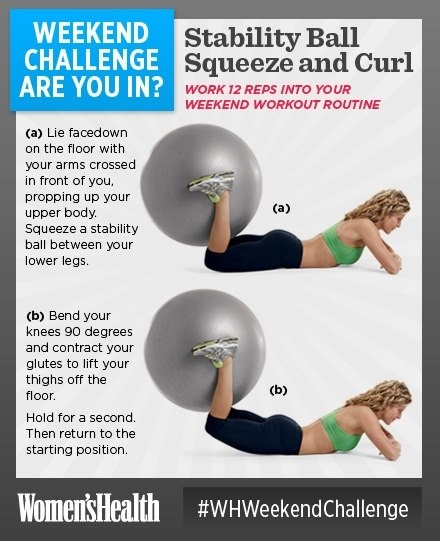 Stability Ball Workout Routine: 68 Best Images About BALANCE BALL EXERCISES On Pinterest