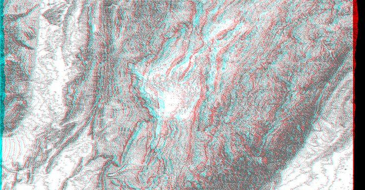 Creación de imagen anaglifa a partir de curvas de nivel. Lugar de asentamiento de la ciudad de Bogotá (Colombia).