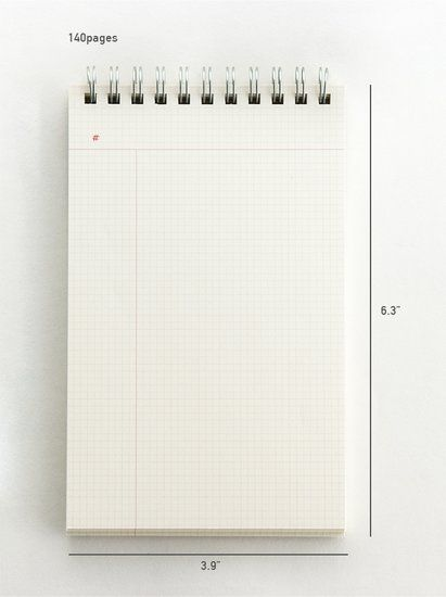 MoMa MUJI Grid Notebook A6 5mm 30sheets - Pack of 5books F/S Japan import