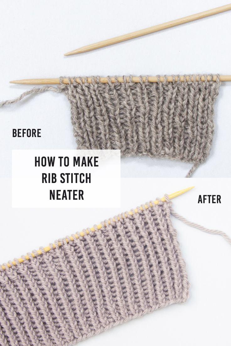How To Make Rib Stitch Neater: Twisted Rib Stitch