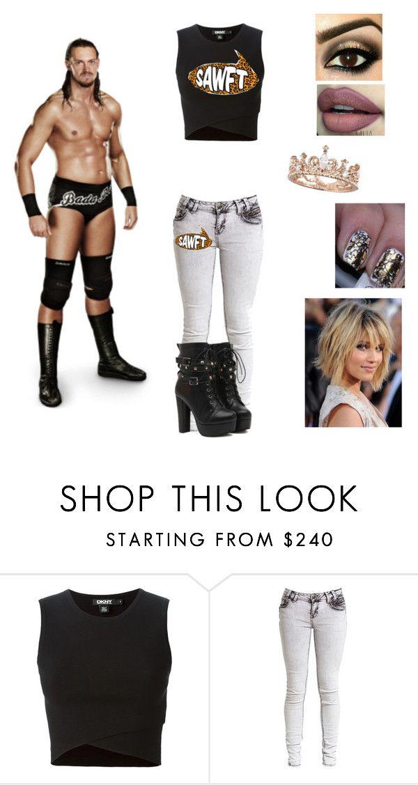 """""""Ringside for Colin Cassady"""" by mrsromanreigns916 ❤ liked on Polyvore featuring DKNY and Reyes"""