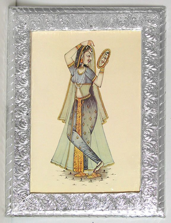 Rajput Lady (Reprint on Paper - Framed))