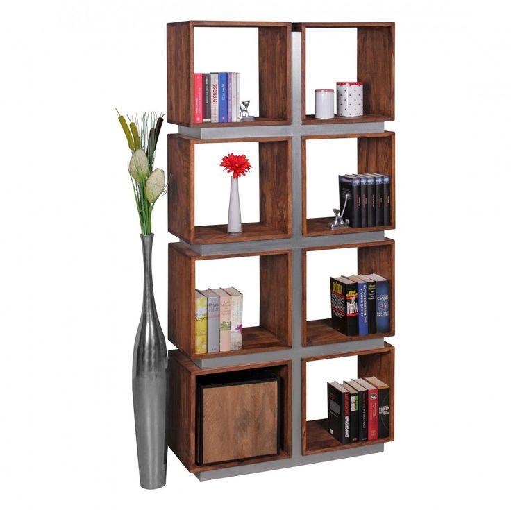 WOHNLING Bücherregal Massivholz Sheesham 180 x 85 x 30 cm Design Raumteiler hohes Regal Holz Landhau Jetzt bestellen unter: https://moebel.ladendirekt.de/wohnzimmer/regale/buecherregale/?uid=708402bf-8f57-5d60-839b-c993eb77545b&utm_source=pinterest&utm_medium=pin&utm_campaign=boards #möbel #wohnwände #einrichtung #buecherregale #wohnzimmer #regale
