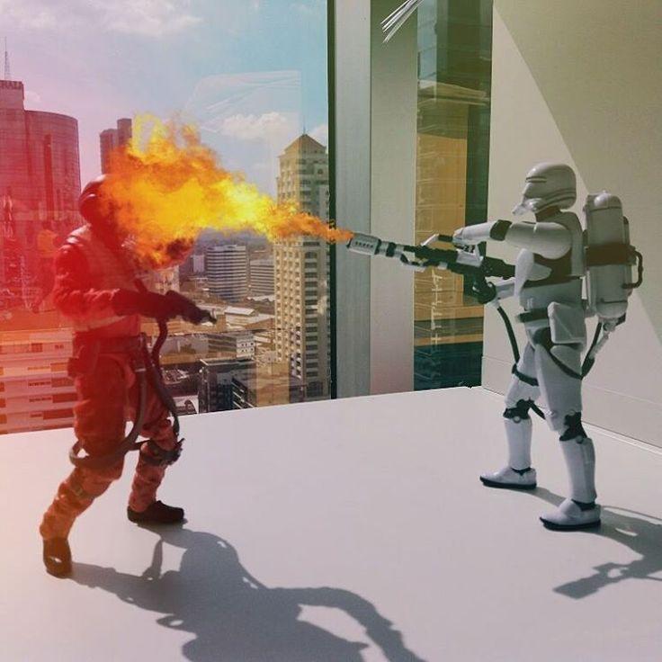 UAAAAAAAAAAAAAH! Who says stormtroopers are not dangerous  #starwars #stormtrooper #flametrooper #hasbro #toyphotography #toygroup_alliance #Toyslagram #toys #starwarstoys #actionfigures #starwarsblackseries #theforceawakens #pty #actionfigurespty