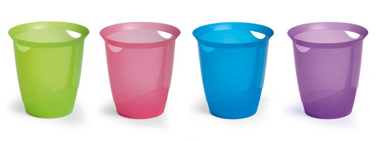 Waste paper bins don't have to be boring, right? More colours available from www.durable-uk.com