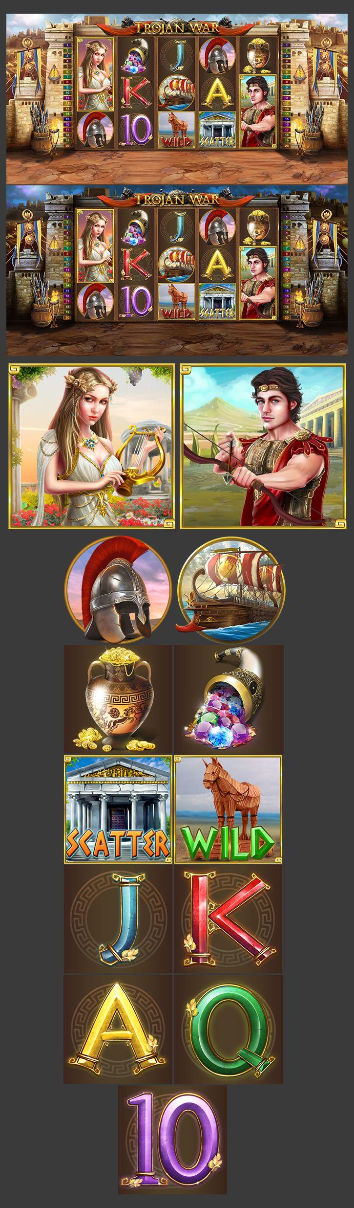 Slot Machine Trojan War Casino on Behance