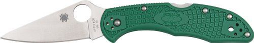 Spyderco Delica4 Lightweight FRN Flat Ground PlainEdge Knife (Green)   http://huntinggearsuperstore.com/product/spyderco-delica4-lightweight-frn-flat-ground-plainedge-knife-green/