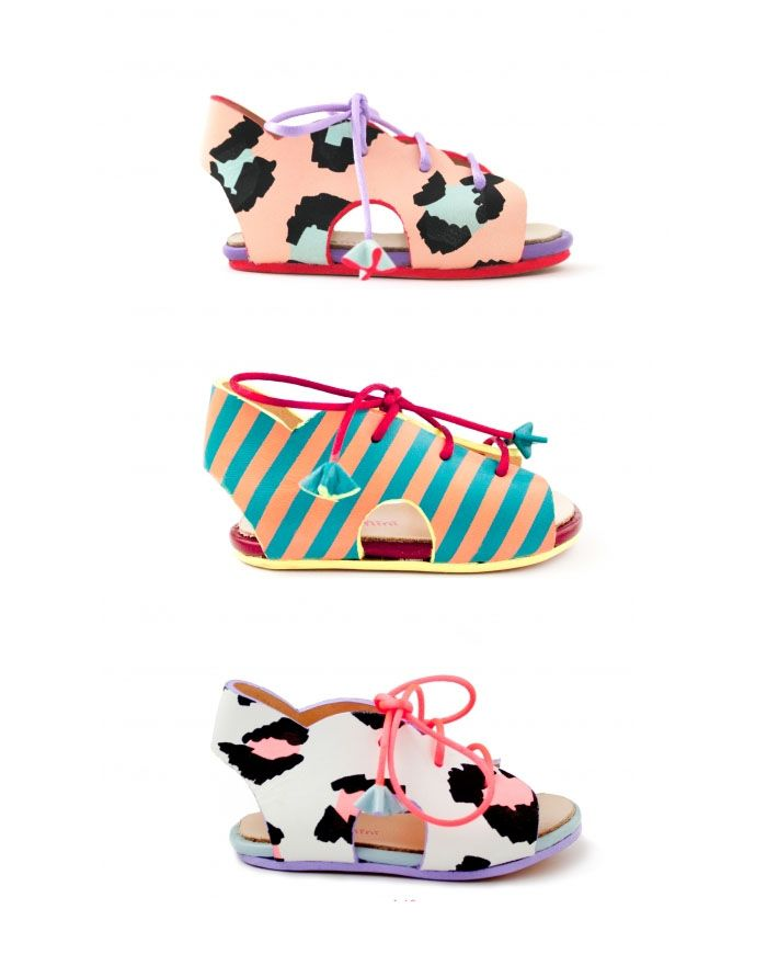 These might just be the coolest baby sandals I've ever seen! But why are they £150! Whyyyy?!My sister who lives in London just discovered this super talented designer Sophia Webster and sent me the link. Aren't they to die for? Between the adorable Freshly Picked and these, it really makes me want to design my own line of baby shoes, I've been thinking about it for a while. I am obsessed!