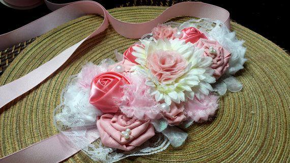 Maternity belly sash set https://www.etsy.com/listing/171572111/pink-shabby-chic-maternity-belly-sash