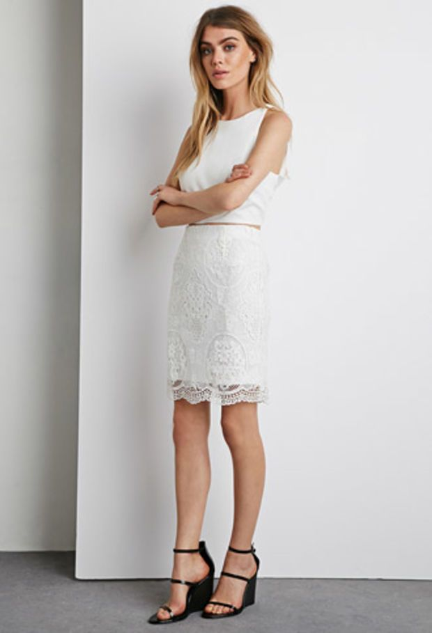 lace overlay pencil skirt clothes overlays