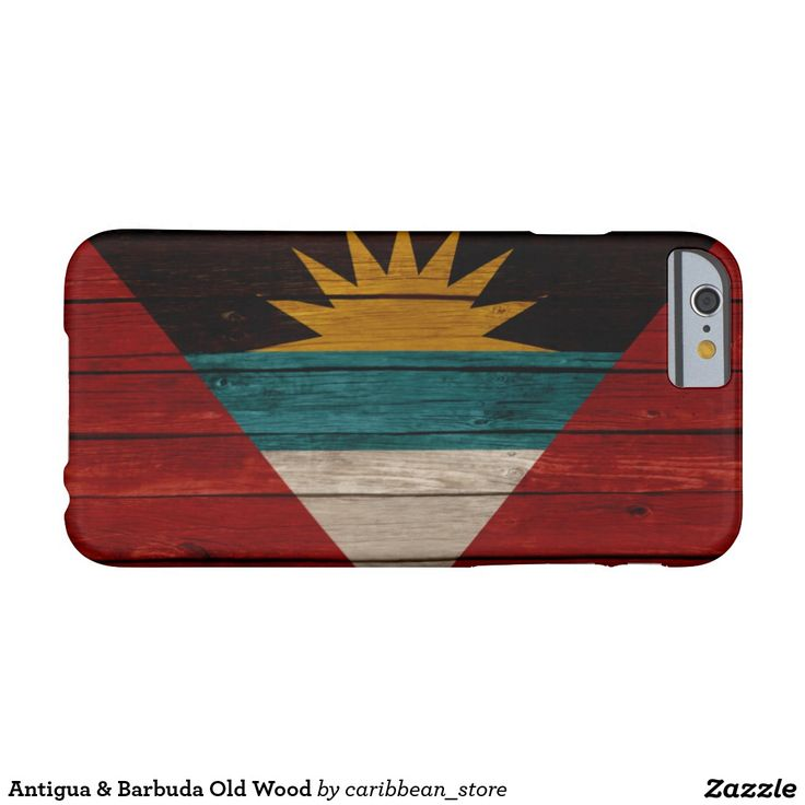Antigua & Barbuda Old Wood Barely There iPhone 6 Case.