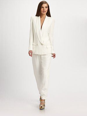 Yves Saint Laurent Tuxedo Jacket and Skinny Pants. YES MA'AMS AND SIRS!