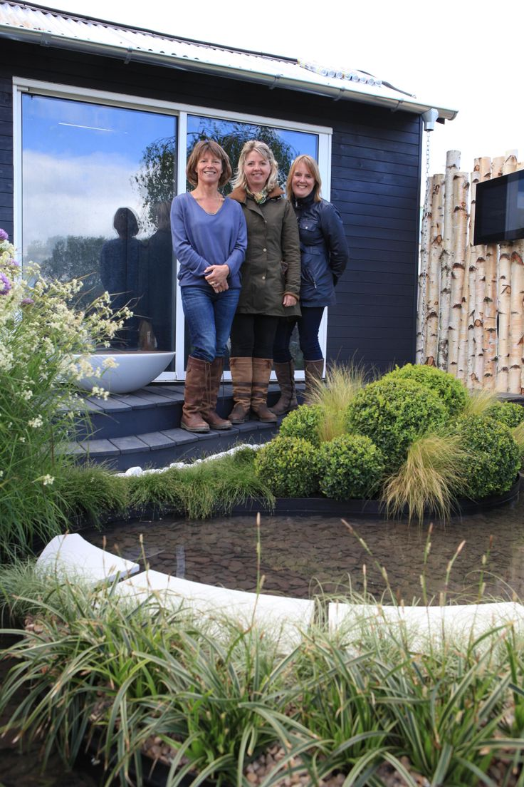 Sue Crawford with fellow co-designers at RHS Malvern 2014