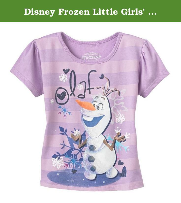 Disney Frozen Little Girls' Olaf striped tee (6). Girls tee features the beloved Olaf character from the Disney Frozen movie. 50/50 cotton-poly blend. Machine washable. Imported.