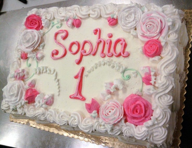 girl 1st birthday sheet cake - Google Search