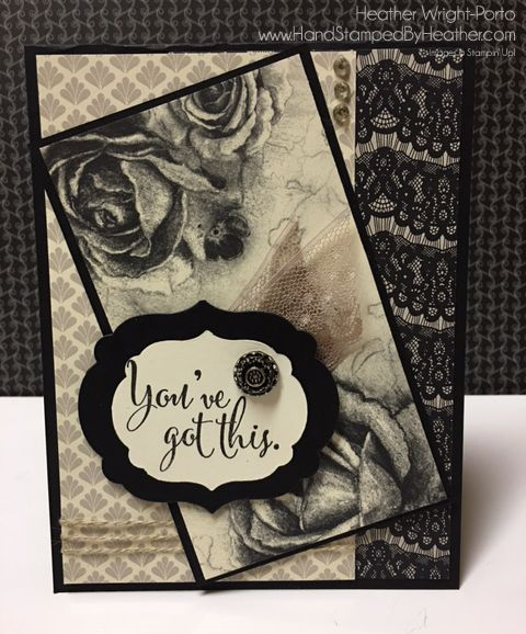 Hand Stamped By Heather Wright-Porto: Stampin' Up! Timeless Elegance: Color Combo Challenge